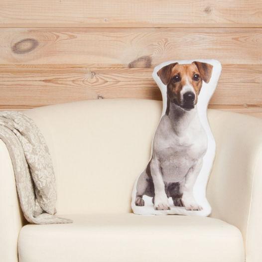 Подушка-собака Джек Рассел терьер