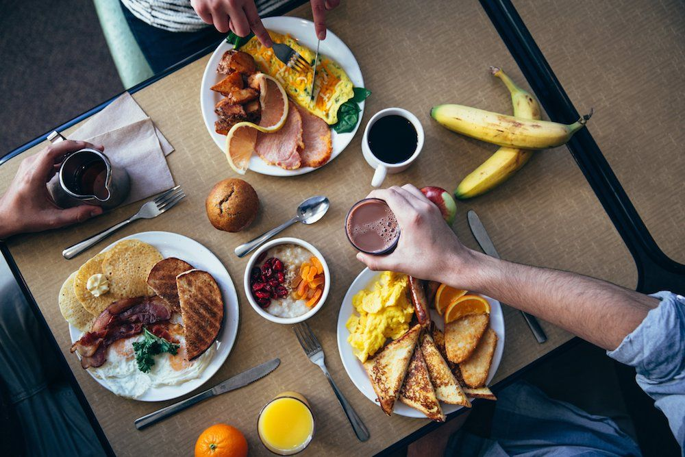 Image of breakfast table