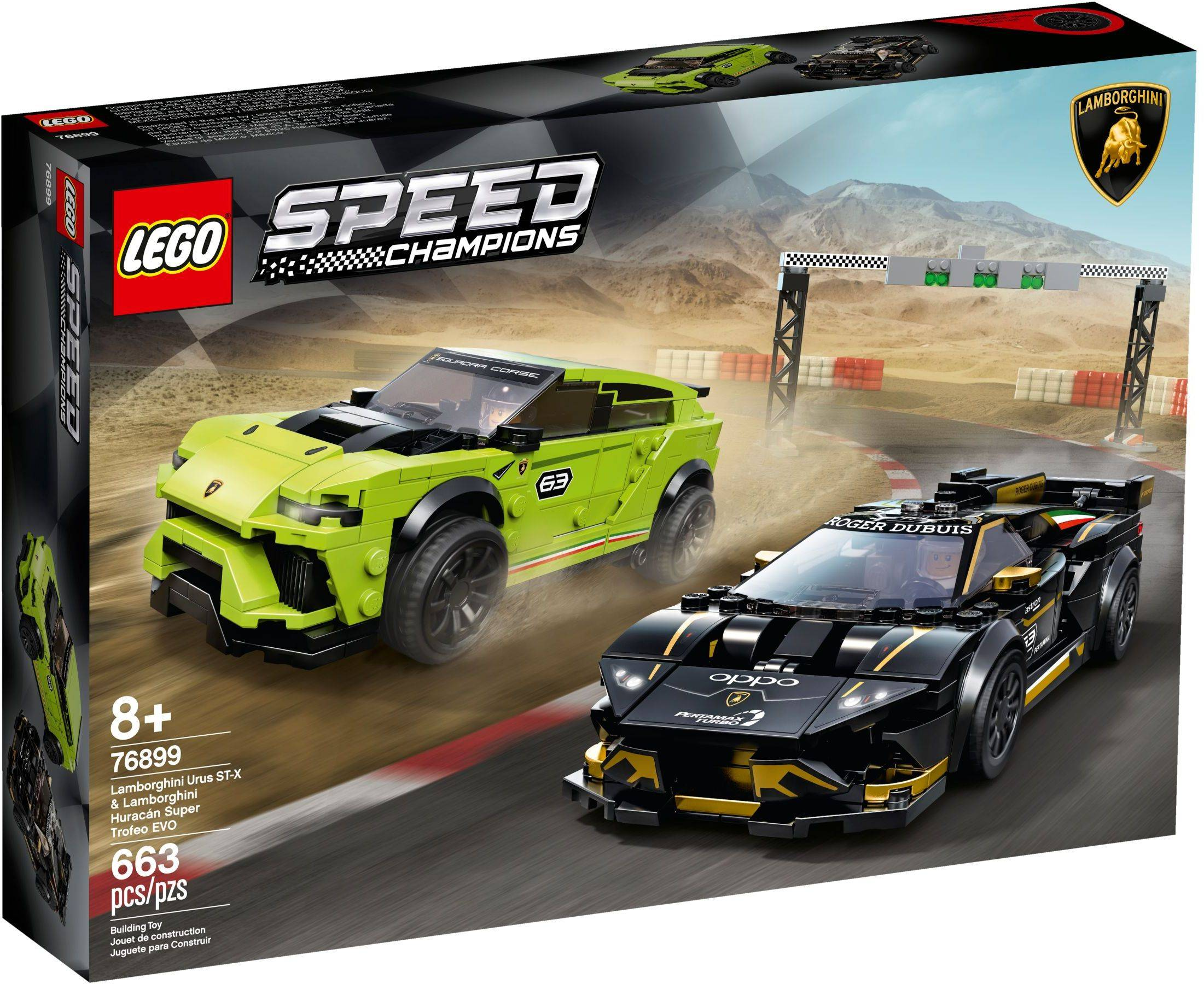 LEGO 76899: Lamborghini Huracán Super Trofeo EVO & Urus ST-X