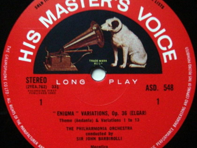 EMI ASD SEMI-CIRCLE / BARBIROLLI, - Elgar Enigma Variations, NM!