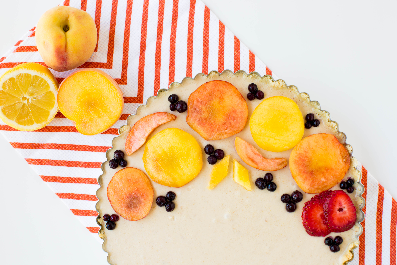 Keto Peach Cream Tart