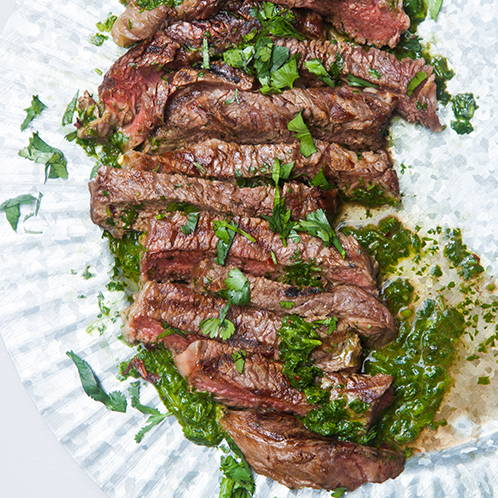 Grilled Ribeye Steak with Argentinian Chimichurri