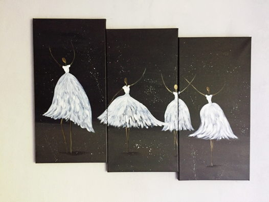 """Картина """"Балерины, триптих"""""""