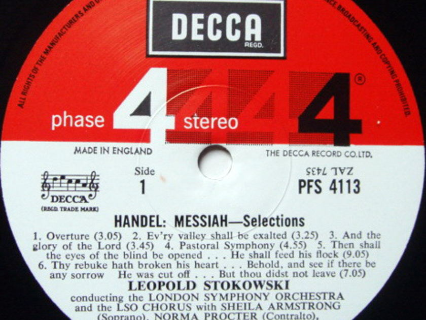 DECCA PHASE 4 STEREO / STOKOWSKI, - Handel Messiah Highlights, MINT!