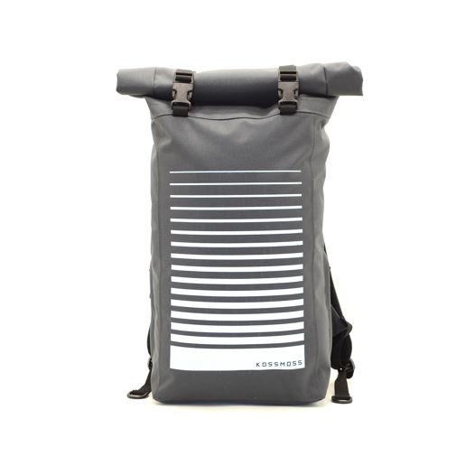 Серый ролл топ рюкзак для города и путешествий