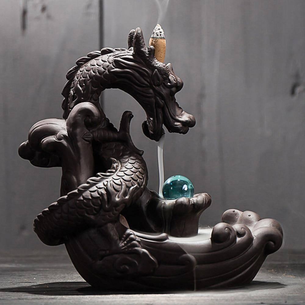 backflow dragon incense burner