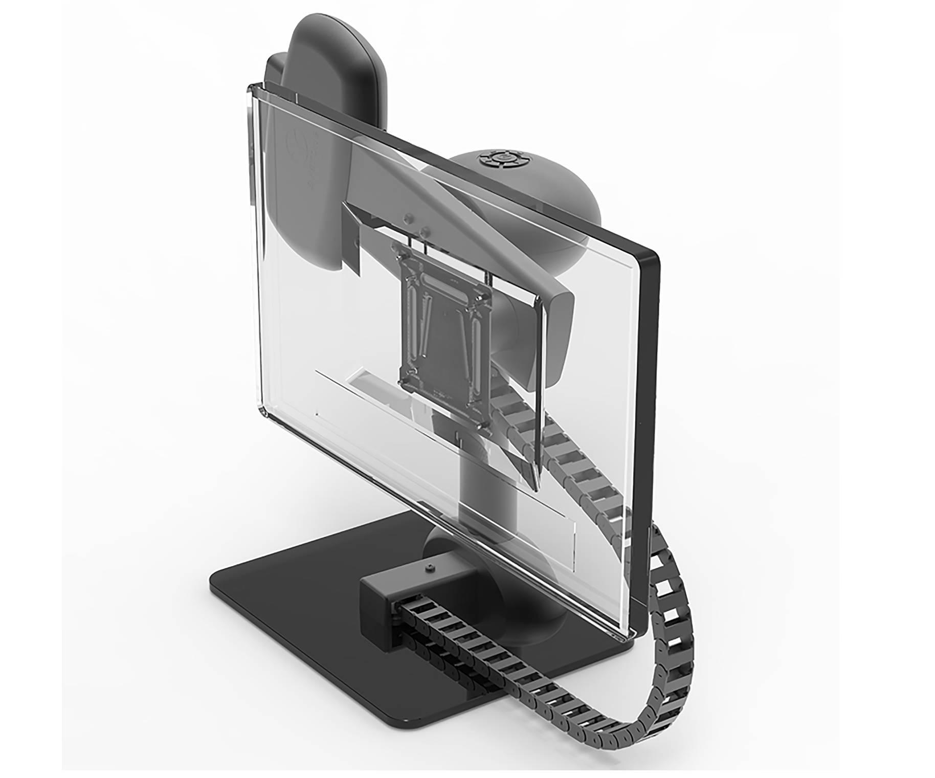 rotating computer monitor arm