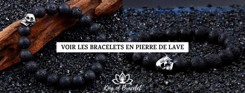 Bracelet en Pierre de Lave pour Homme et Femme - King of Bracelet