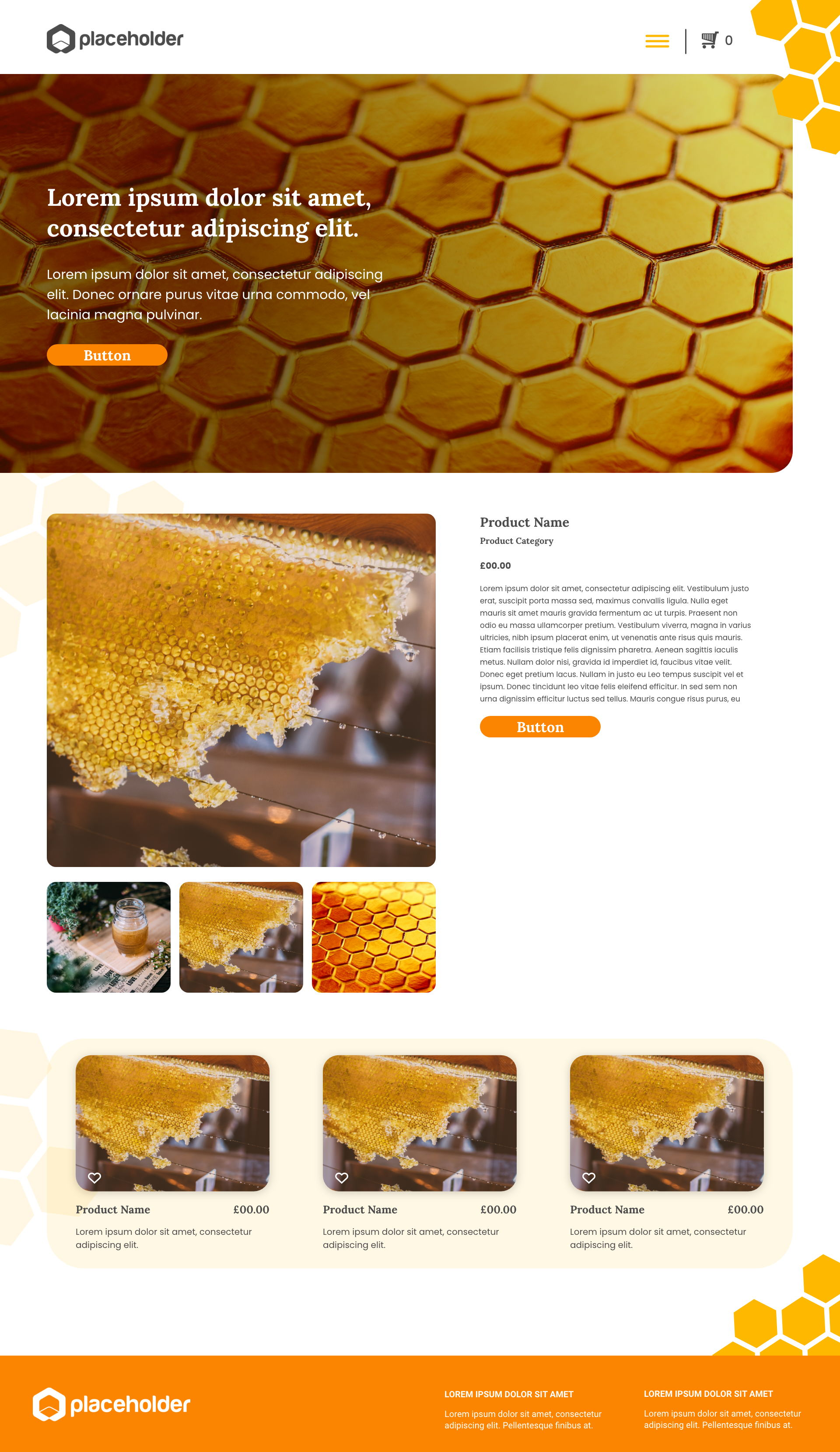 Honey template's gallery image
