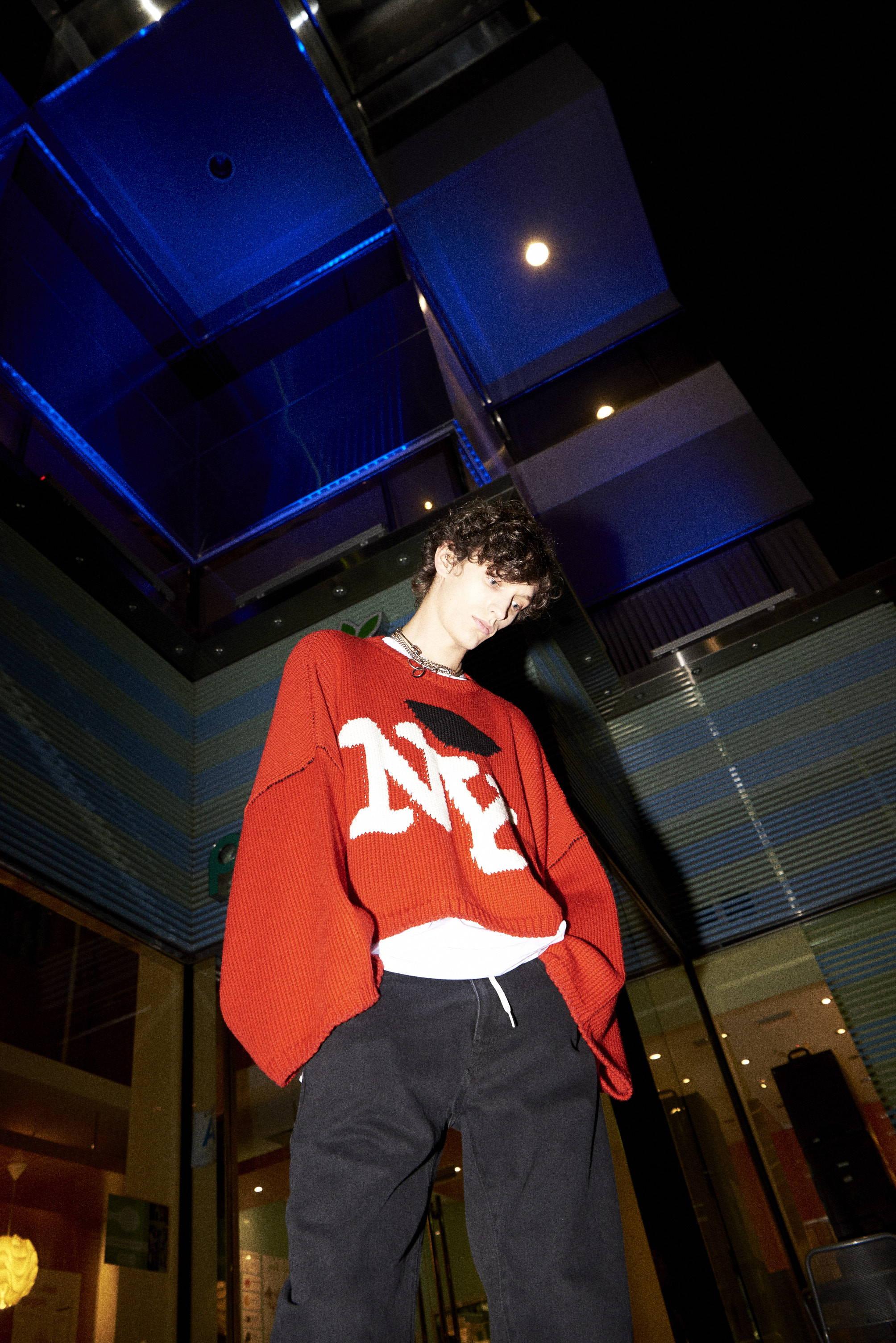 raf 'ny' sweater duct tape denim-hlorenzo menswear fw17