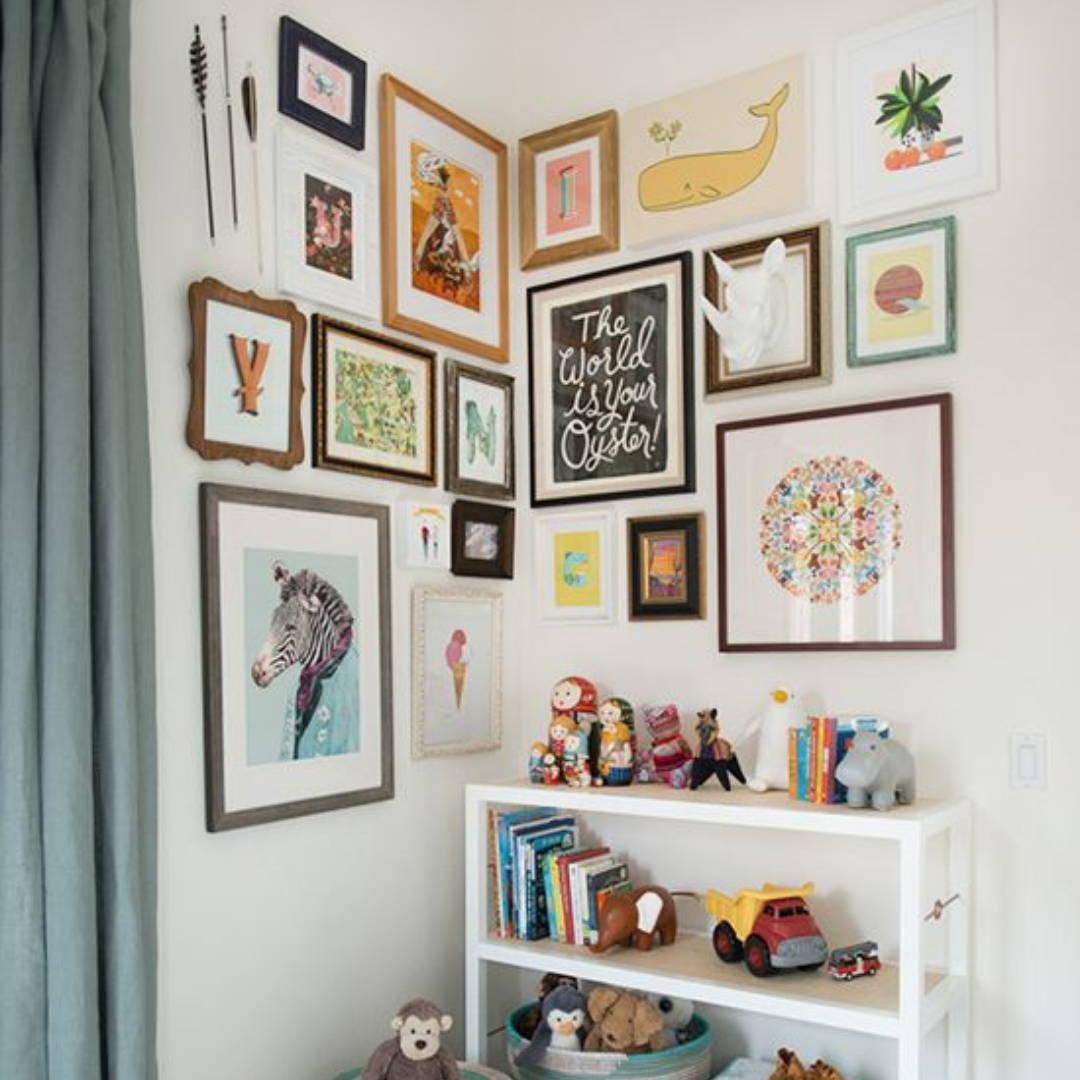 Gallery wall idea for neutral nursery decor