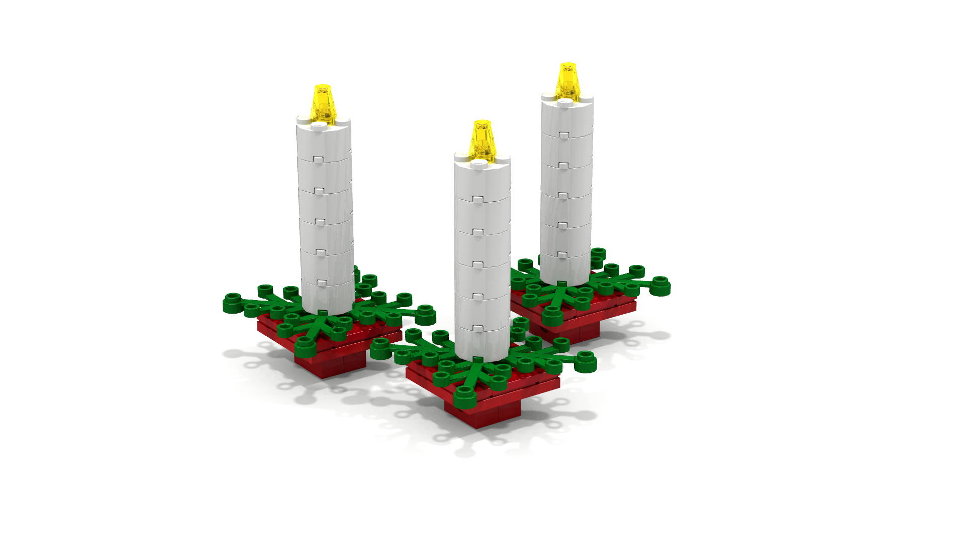 LEGO Candle Christmas Ornaments