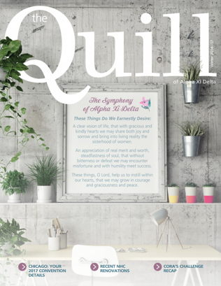 Cover of The Quill of Alpha Xi Delta Winter 2017