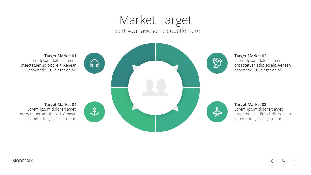 Modern X Marketing Plan Presentation Template Target Audience