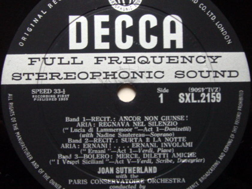 DECCA SXL-WB-ED1 / JOAN SUTHERLAND, - Operatic Arias, EX!