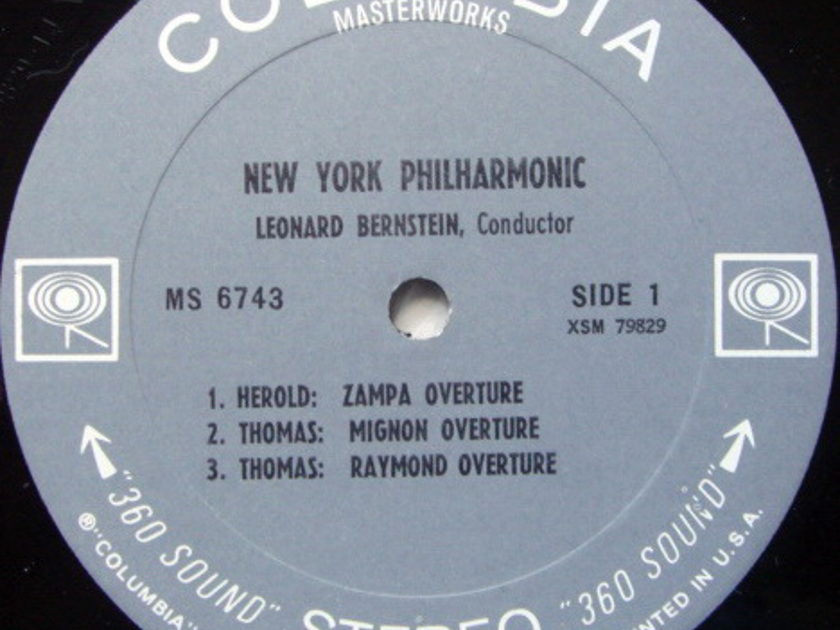 Columbia 2-EYE / LEONARD BERNSTEIN, - Rossini William Tell and other Famous Overtures,  NM!