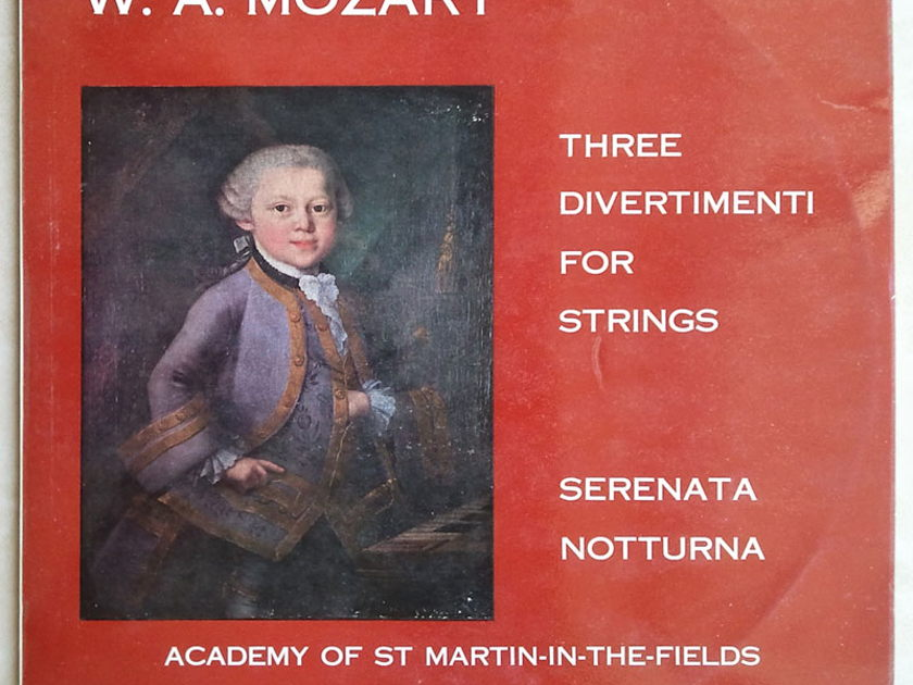 ARGO DECCA | MARRINER/MOZART - 3 Divertimenti for Strings, Serenata, Notturna  / EX