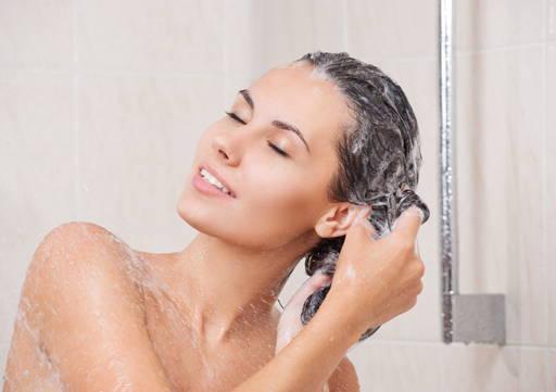 washing a hair