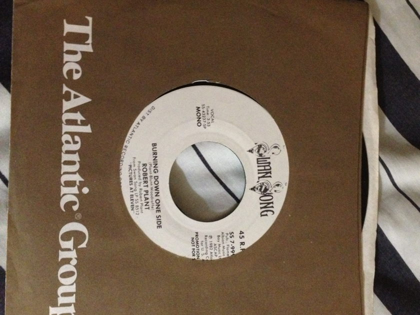 Robert Plant - Burning Down One Side Promo 45 Mono/Stereo
