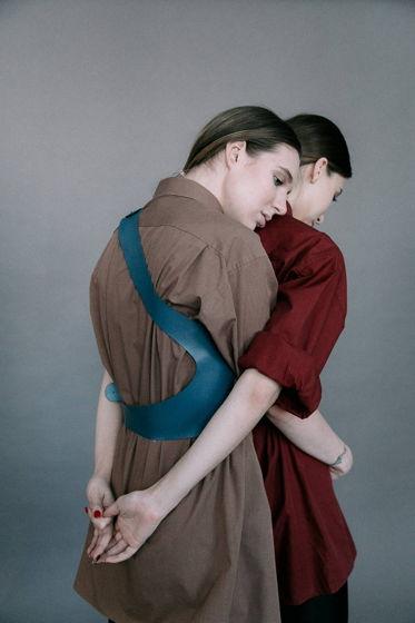 Портупея Monica темно-голубого цвета