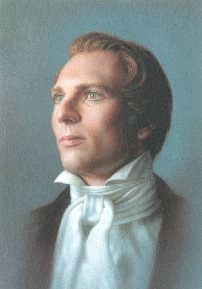 LDS art portrait of Joseph Smith.