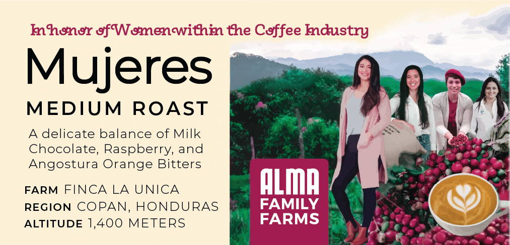 Mujeres Coffee Label.