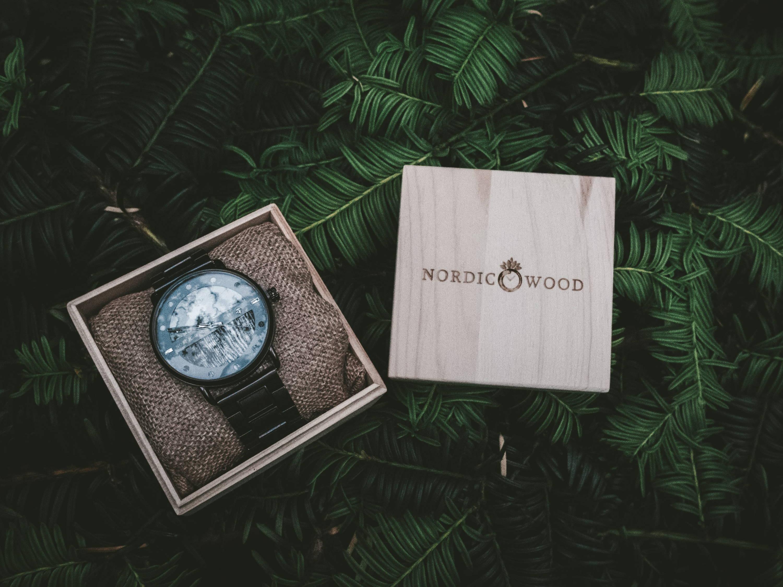 montre en bois