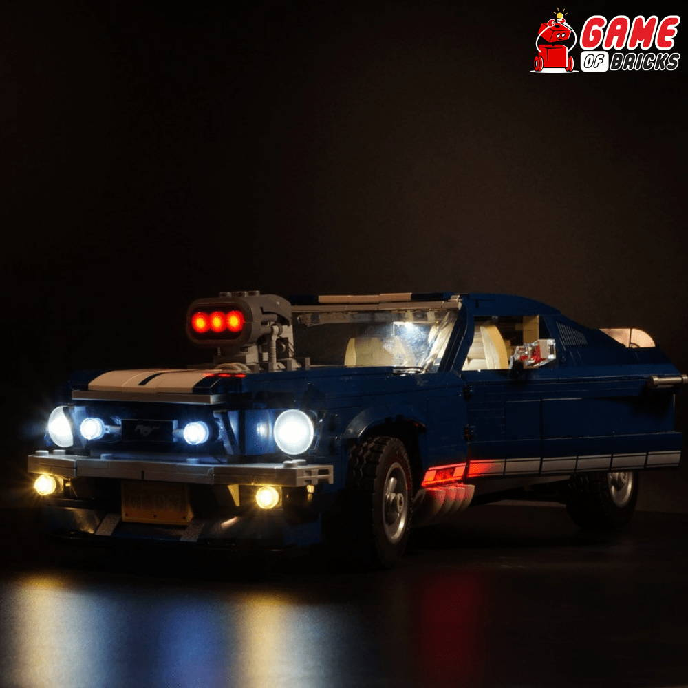 lego ford mustang led lights
