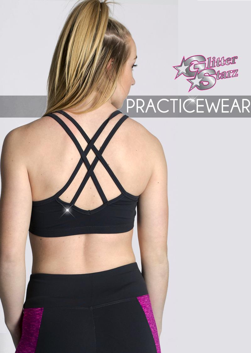 glitterstarz custom bling rhinestone practicewear sets for cheer and dance