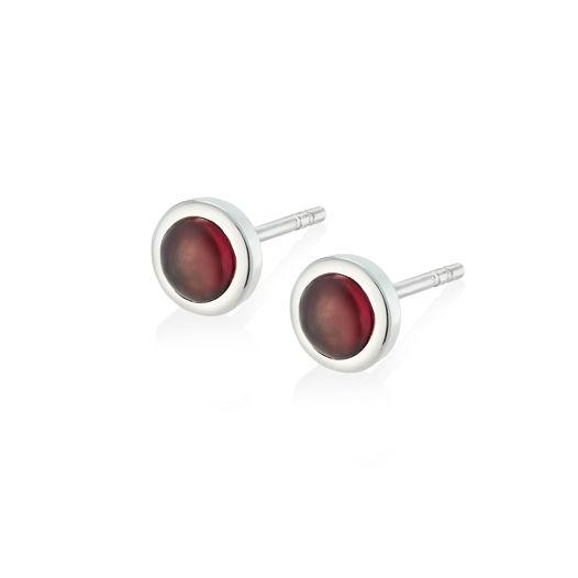 Серьги ALPHA - Красный гранат