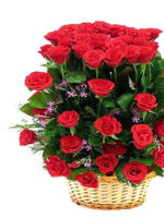 hf Red Roses Basket