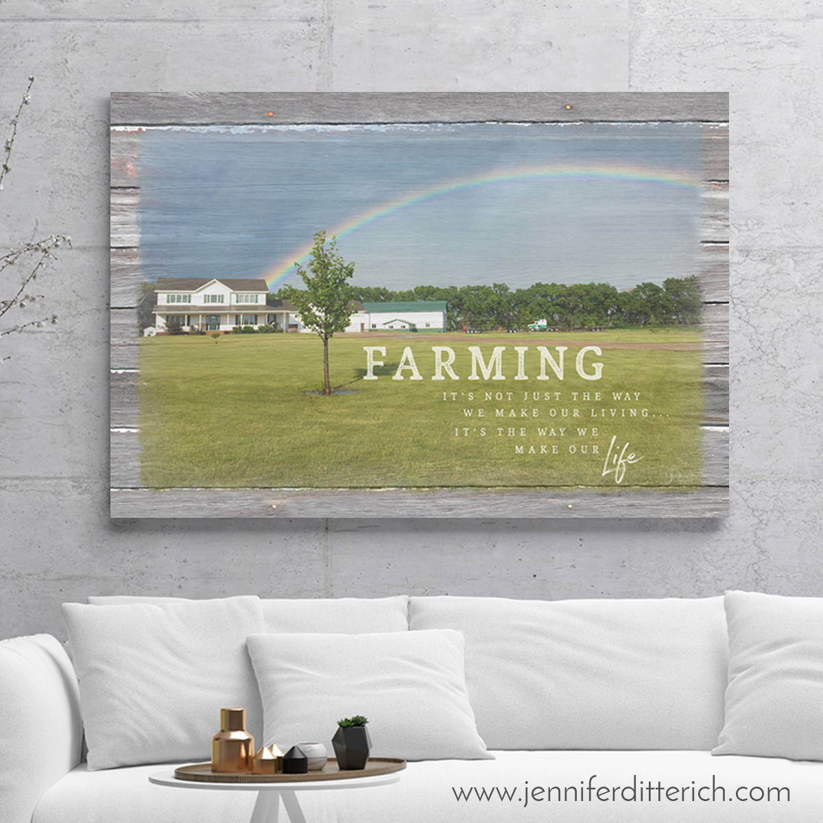 Personalized Farm Print