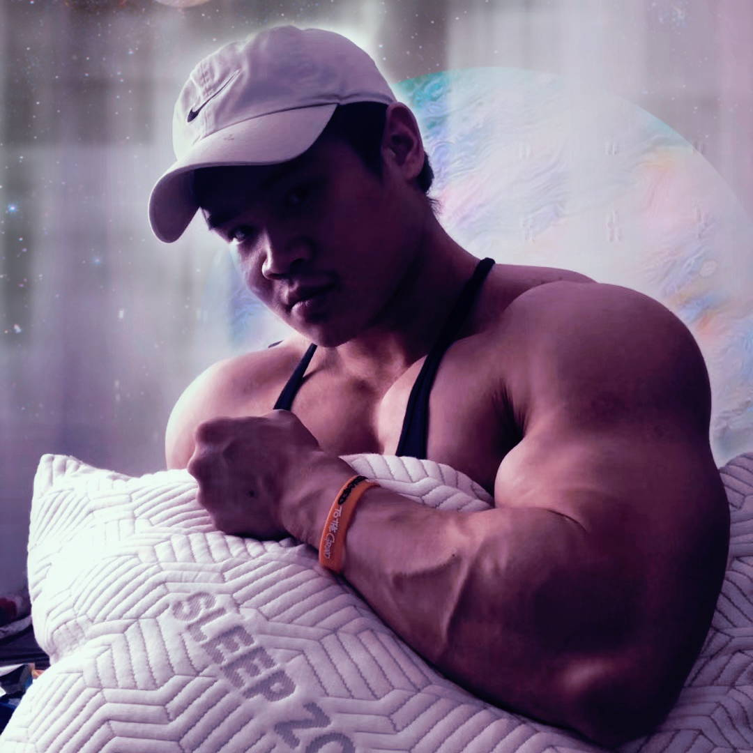 Sleep zone bedding website store home page instagram social media muscular man  with pillow