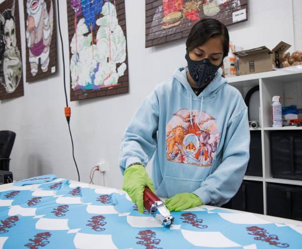 Wholesale Masks & Buffs - Mask Cutting