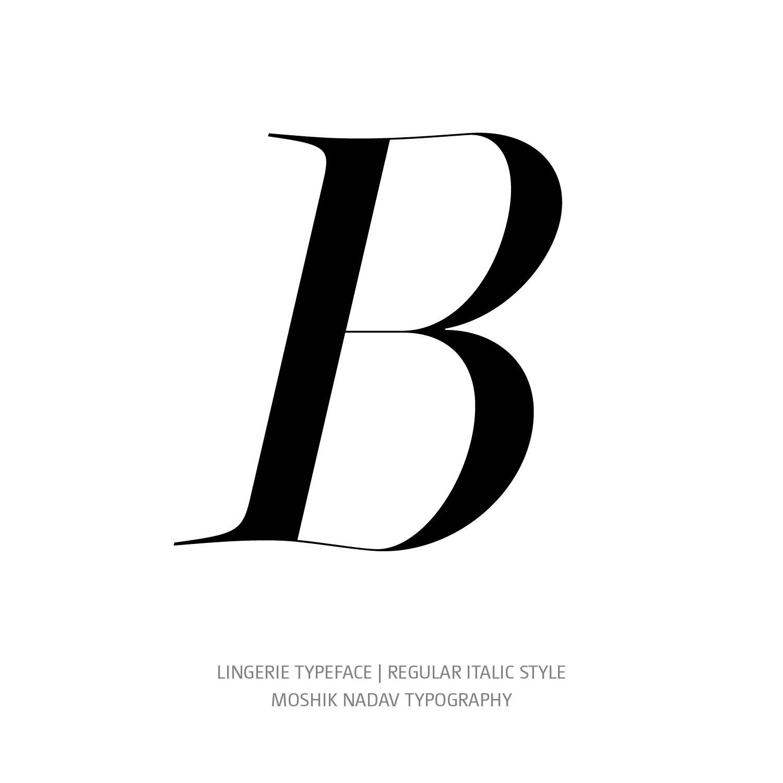 Lingerie Typeface Regular Italic B - Fashion fonts by Moshik Nadav Typography
