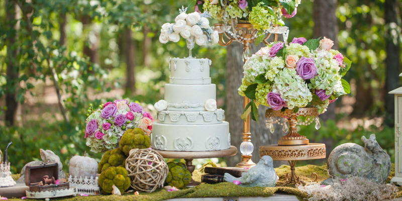 Romantic enchanted forest inspiration shoot
