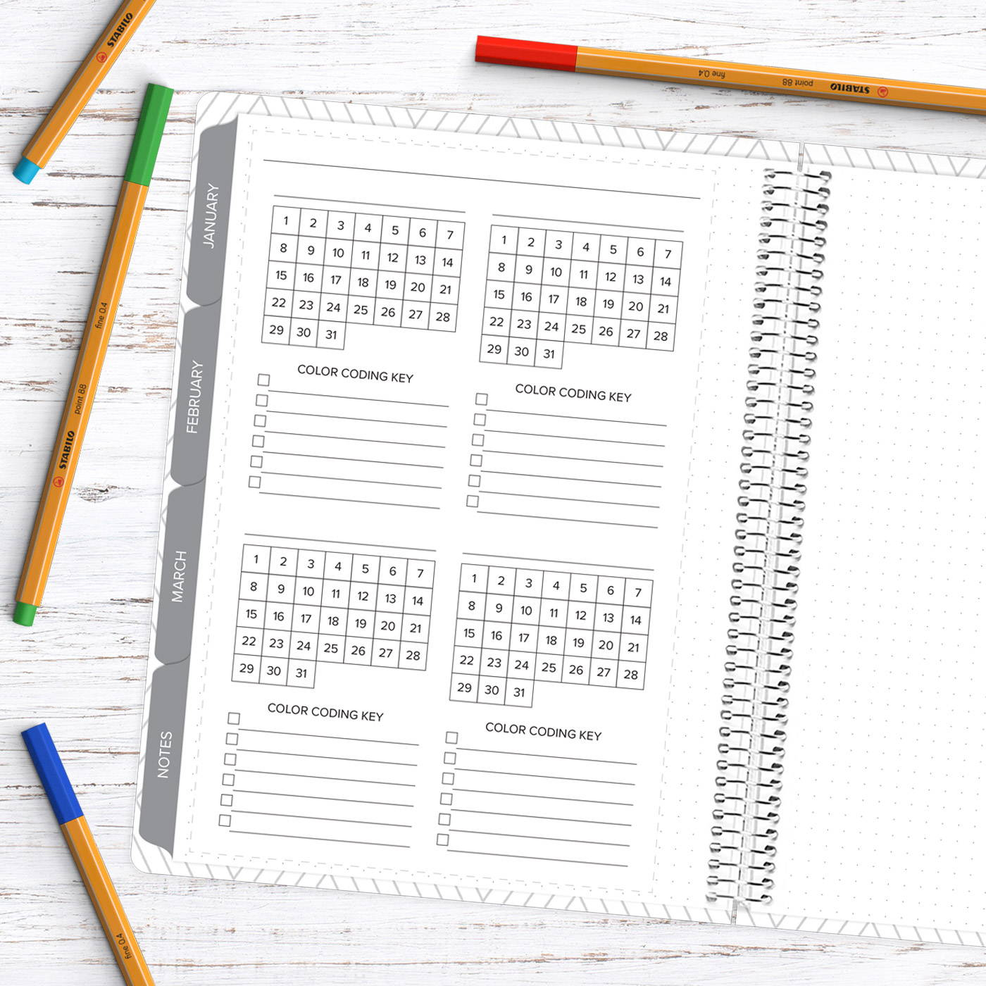 Amplify Planner 3 month goals freebie download