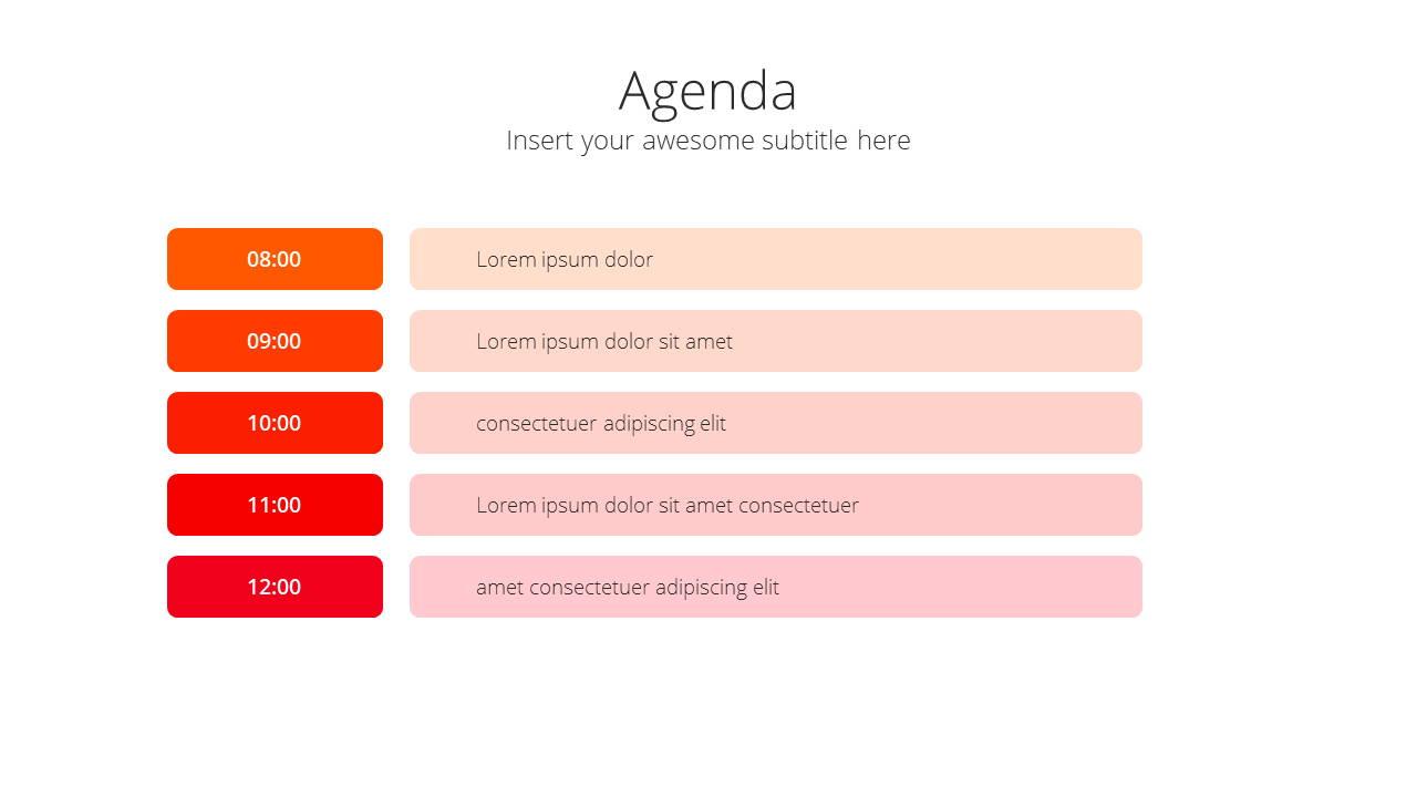 Modern X Project Proposal Presentation Template Agenda