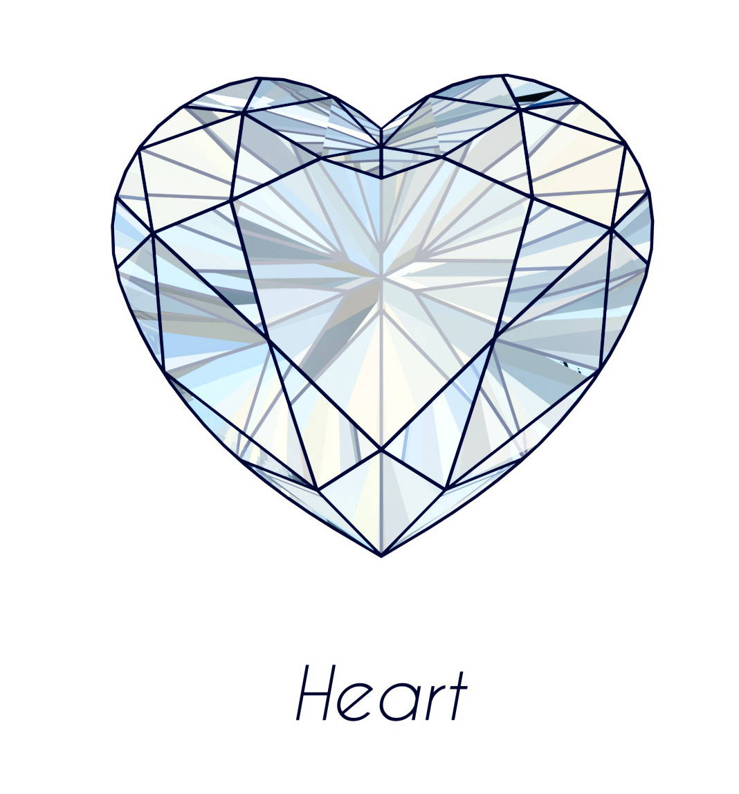 diamond heart cut picture