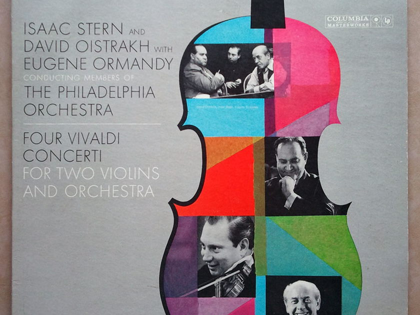 COLUMBIA 6-EYE | OISTRAKH/STERN/VIVALDI - 4 Concerti for Two Violins and Orchestra / EX