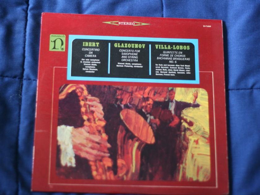 Nonesuch Records - Ibert/Glazounov/Villa-Lobos H-71030