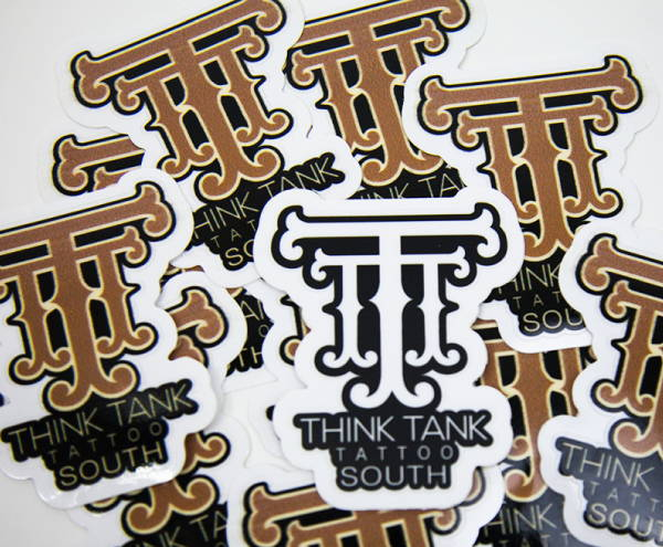 Stickers & Labels - Think Tank Tattoo Sticker