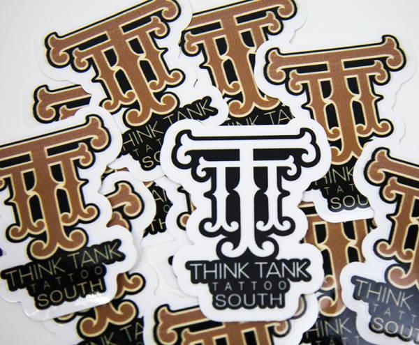 Stickers & Labels - Think Tank Tattoo Sticker