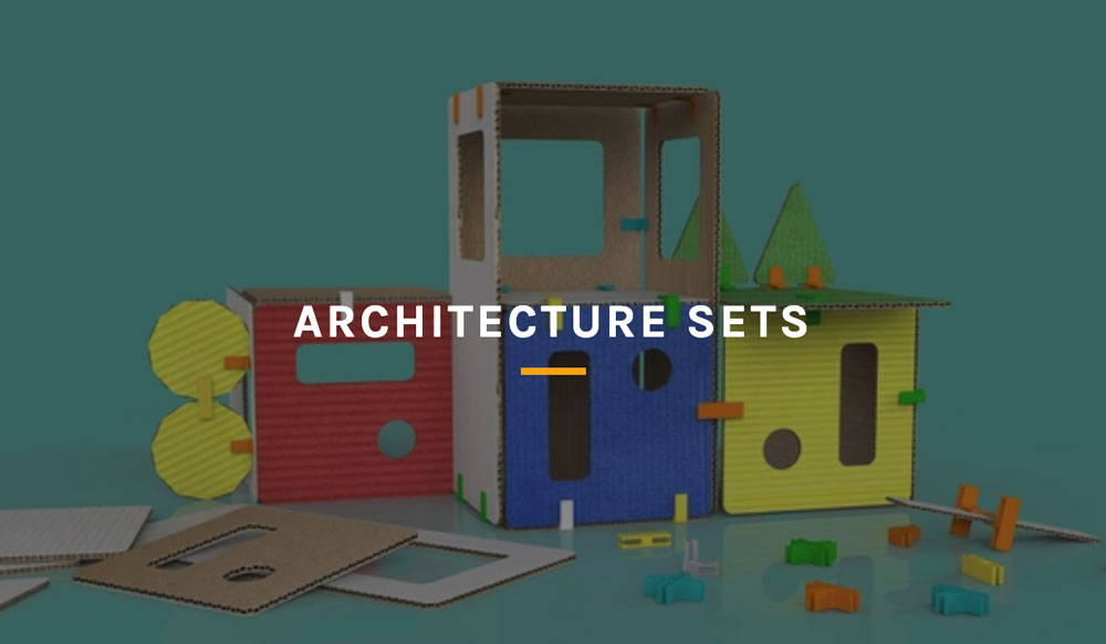 image of cardboard house made with 3DuxDesign modeling set