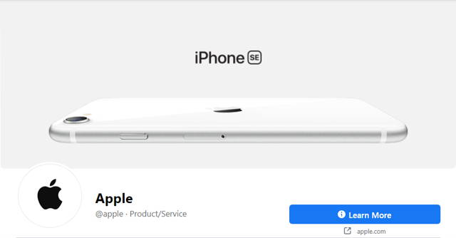 Apple's Facebook cover photo