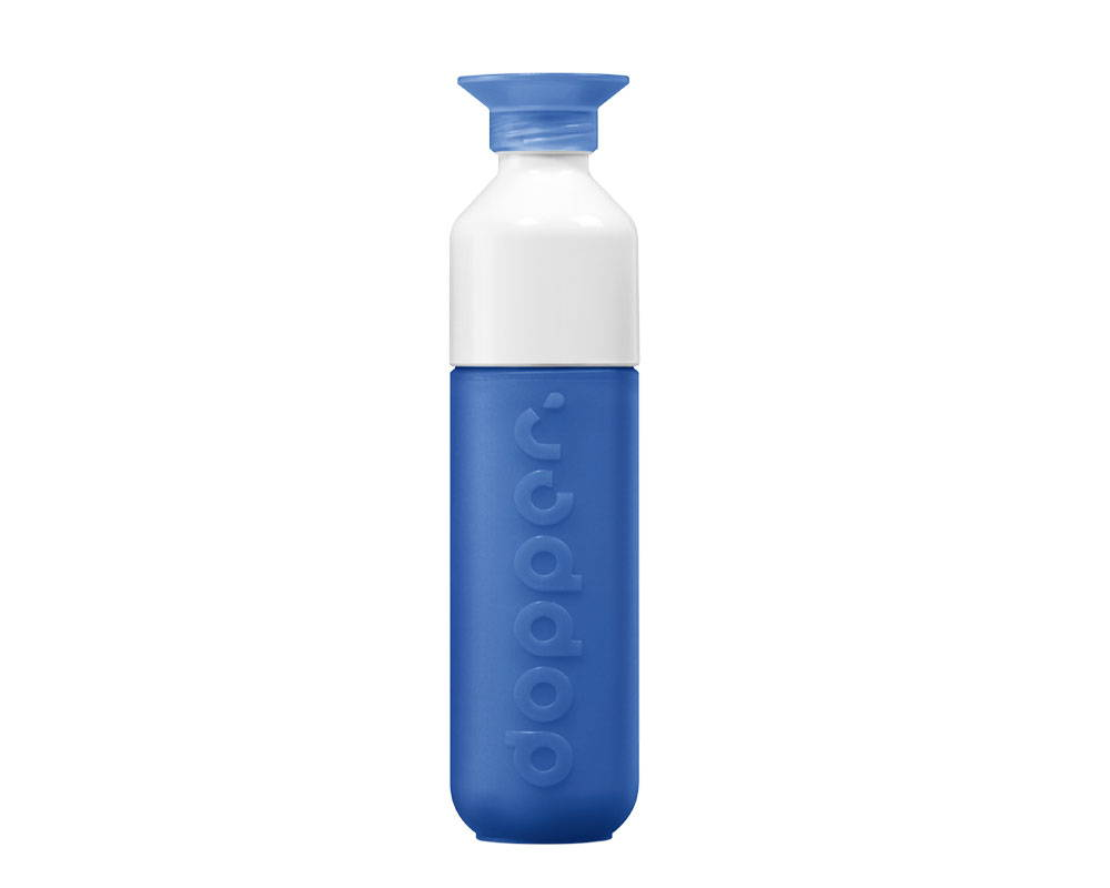Plastic free alternative reusable water bottle from sustainable brand Dopper