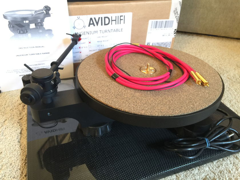 Avid Ingenium Turntable with Jelco SA250ST Arm & JAC501 cable - Mint Cond!