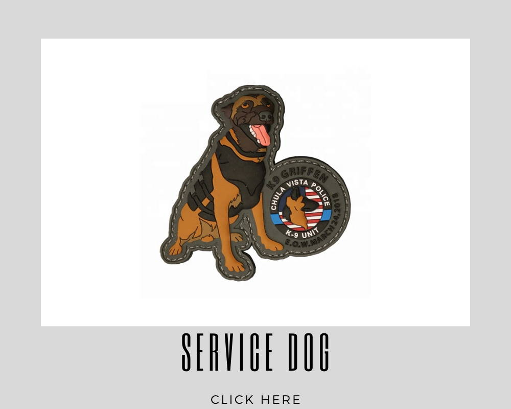 Custom Embroidery Patches Service Dog Corporate
