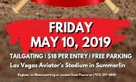 Las Vegas Region PCA Aviator's Baseball Game info on May 10, 2019