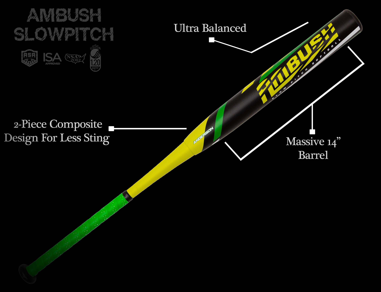 2020 anderson ambush slowpitch softball bat specs